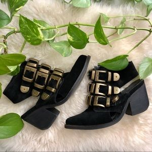 Jeffrey Campbell buckle booties